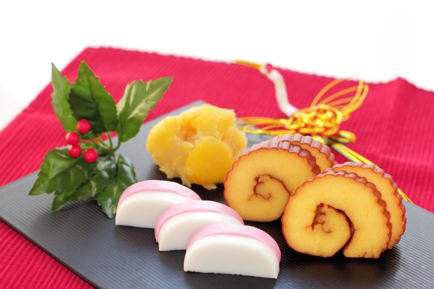 Japanese New year traditional food ,Datemaki and Kamaboko