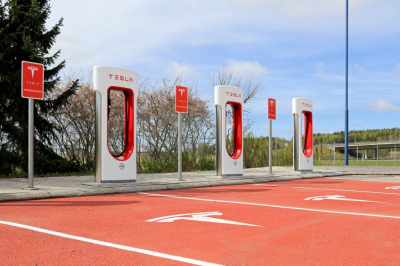 Tesla Supercharger Station in Paimio, Finland