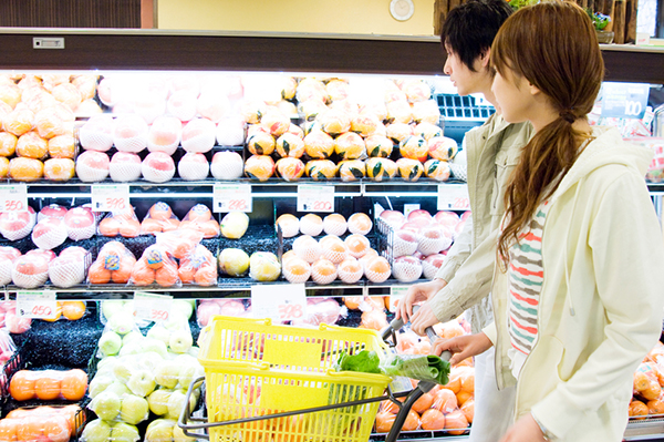 Couple doing some shopping in supermarket